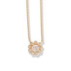 ショッピングネックレス ネックレス フラワー 花 ダイヤモンド レディース k10 10k 10金 k18 18k 18金 ゴールド 大人 女性 上品 かわいい ギフト プレゼント「La Fleur」
