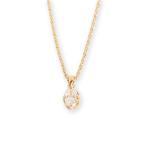 ショッピングネックレス ネックレス オーバルカット ダイヤモンド レディース シンプル k10 10k 10金 k18 18k 18金 ゴールド 大人 女性 上品 ギフト プレゼント 「One Diamond」