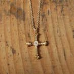 ショッピングネックレス ネックレス クロス オーバル ダイヤモンド レディース k10 10k 10金 k18 18k 18金 ゴールド 大人 女性 上品 ギフト プレゼント 「Parthenon Cross Necklace」