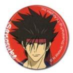 るろうに剣心 OVA 相楽 左之助 1.25インチ 缶バッジ グッズ 約3.2cm 北米版