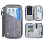 送料無料 パスポートケース スキミング防止 国内海外旅行用品 通帳ケース 航空券 紙幣 カード ペン 鍵 大容量 トラベル パスポートバッグ ABY-042