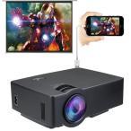送料無料 小型 LEDプロジェクター HDMIケーブル付 Android IOSはライティングケーブルで接続可能 1200ルーメン 800 480 高画質 AKM-085