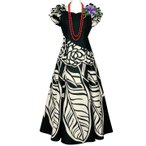 フラダンスドレス フラドレス ムームー 切替フリルドレス OP315-3186 ハワイアン タヒチアン ワンピース