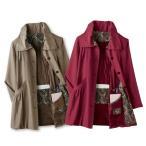 レディースファッション ミセス 秋冬 アウター 軽量コート ポーチ付き ST1801-16-8813 中わた 旅行用