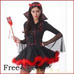 ショッピングハロウィン ハロウィン 悪魔 デビル 魔女 デビル コスチューム ハロウィン 女王 QUEEN クィーン ロングドレス 仮装 ステージ スプレ衣装 パープル レッド 赤 魔女 魔法使い
