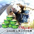 サバ缶 岩手県産 さば缶詰 レモンバジル味 170g×6缶 サヴァ缶 Cava缶 国産 鯖缶 バーベキュー食材 送料無料 ギフト 内祝い