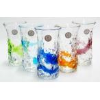 【琉球ガラス】デコボコひとくちビアグラス(各色):琉球ガラス村 【P15Aug15】