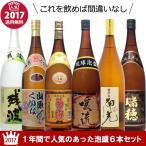 2017年の1年間で人気のあった泡盛・古酒6本セット 180