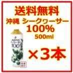 シークヮーサー シークワーサージュース 100% 原液 JA沖縄  500ml  3本セット ノビレチン  青切り
