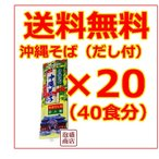 沖縄そば乾麺 マルタケ  だし付き2人前  20袋 40食分 ソーキそば を御自宅で