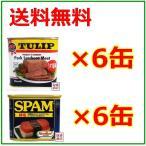 スパム SPAM 減塩 340g×6缶 チューリップポーク うす塩味 340g×6缶  合計12缶セット