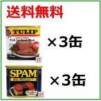 スパム SPAM 減塩 340g×3缶 チューリップポーク うす塩味 340g×3缶  合計6缶セット