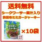 酢昆布ミミガージャーキー  10グラム  10袋セット   シークワーサー果汁入り  オキハム 沖縄ハム
