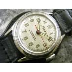 ミネルバ MINERVA 手巻き式 珍品 銘入りケースバック アンティーク腕時計 3針センターセコンド ペンシル針