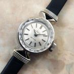 オメガ 金無垢 レディースウォッチ リボンラグ カットガラス シルバーダイヤル アンティーク 1970年 14KWG ホワイトゴールド 時計