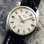 ROLEX(ロレックス)OYSTER(オイスター)Ref.6426 オリジナルシルバーダイヤル 希少サテン ノンデイト プレシジョン 1967年 アンティーク 時計