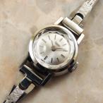チュードル レディースウォッチ シルバーダイヤル カットガラス ラウンド BOX付 1965年 アンティーク 時計 TUDOR
