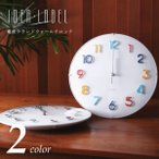 IDEA LABEL イデアレーベル エンボスデザイン 電波ラウンドウォールクロック (電波時計/壁掛け時計) (送料無料)