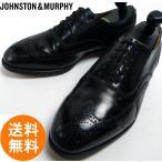 ジョンストン&マーフィー JOHNSTON&MURPHY OPTIMA ウィングチップシューズ 8 3E/E(26.5cm相当)(黒 ブラック)(メンズ)【中古】【送料..