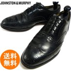 ジョンストン&マーフィー JOHNSTON & MURPHY ARISTOCRAFT アリストクラフト ウイングチップシューズ 8 1/2 D/B(26.5cm相当)【..