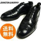 ジョンストン&マーフィー JOHNSTON&MURPHY Heritage ウィングチップシューズ 9D/B(26.5〜27cm相当)(黒 ブラック)(メンズ)【中古】【..