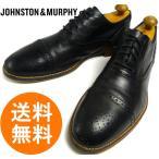 ジョンストン&マーフィー JOHNSTON&MURPHY ウィングチップシューズ 9.5M(27.5cm相当)(黒 ブラック)(メンズ)【中古】【送料無料】