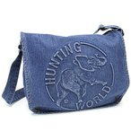 ハンティングワールド バッグ HUNTING WORLD デニムトート ショルダーバッグ DSM131 ブルー