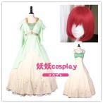 コスプレ衣装+ウィッグ 赤髪の白雪姫 白雪 変装/忘年会/仮装/豪華/華麗/高品質