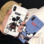 ミッキー デニム iphoneケース スマホケース キャラクター ディズニー 携帯ケース アイフォンケース