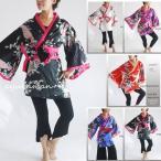 和柄 ドレス0032 0964着物風ミニ(孔雀)cwa07    dress 和柄 和柄衣装 よさこい 和柄 ドレス 和柄衣装 よさこい 和柄ドレス