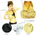 ももクロ 衣装【s-vest01】7643 スタッズ付 スパンコール ベスト ダンス衣装 ダンス衣装 ダンス衣装 ダンス衣装 スパンコール ダンス衣装