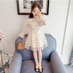ワンピース レースドレス  夏 韓国子供服 ジュニア dress 通学/通園 ワンピ キッズ用プルオーバー 韓国 子ども服 春 秋 女の子 キッズ用の画像