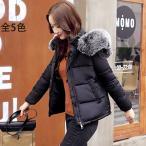 中綿ダウンコート レディース 40代 ショート 軽い 2019 秋冬 アウター 中綿コート 中綿ジャケット ダウン風コート フード付き 厚手 暖かい 大きいサイズ スリム
