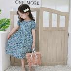 子供服 ワンピース 半袖 春夏 女の子 キッズワンピース 薄手 花柄ワンピース チュニック 子供ドレス ジュニア おしゃれ 可愛い 涼しい 海辺 新品 90cm 100cm