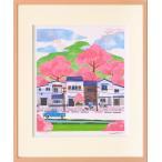 絵画 壁掛け/桜の季節(はりたつお)/絵画 壁掛け 壁飾り インテリア 油絵 花 アートパネル ポスター 絵 額入り リビング 玄関