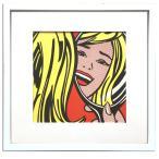 アートフレーム/ロイ リキテンスタイン Girl in Mirror,1963/インテリア 壁掛け 額入り 額装込 ポスター リビング 玄関 トイレ プレゼント おしゃれ 絵画 飾る