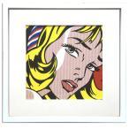 アートフレーム/ロイ リキテンスタイン Girl with Hair Ribbon,1965/インテリア 壁掛け 額入り 額装込 ポスター リビング 玄関 トイレ プレゼント モダン 絵画