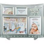 フォトフレーム メリー チャーム ガラス フォトフレーム 4ウィンドー 壁掛け 立てかけ 記念 写真 飾り 出産祝い 結婚祝い 写真立て