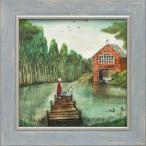 絵画 ジョー ラム「ボートハウス」 絵画 壁掛け リビング 玄関 トイレ インテリア プレゼント ギフト アートパネル