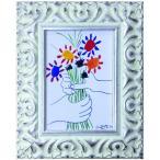 名画 ピカソ ブーケ/絵画 壁掛け 壁飾り インテリア 油絵 花 アートパネル ポスター 絵