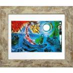 名画アートフレーム コンサート マルク・シャガール(Marc Chagall)/絵画 壁掛け 壁飾り インテリア 油絵 花 アートパネル ポスター 絵
