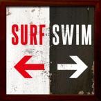 アートフレーム サインフレーム サーフィンはこっち、泳ぐのはこっち。【ゆうパケット】/絵画 壁掛け 壁飾り インテリア 油絵 花