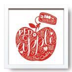 アートフレーム サインフレーム りんご【ゆうパケット】/絵画 壁掛け 壁飾り インテリア 油絵 花