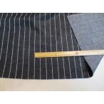 圧縮ウールニット かなこ織り ストライプ 黒×ホワイト