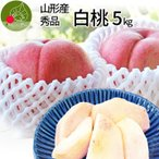 山形県産 白桃 5kg 秀品 川中島 送料無料 贈答 贈り物
