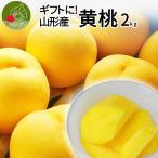 黄桃 山形県産 秀品 2kg(7〜12玉前後)送料無料 化粧箱入り ギフト 贈答用 黄金桃など品種お任せ