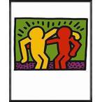 ポスター アート Pop Shop I 1987(キース ヘリング) 額装品 アルミ製ハイグレードフレーム