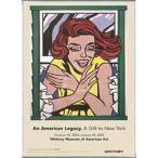 窓辺の少女(ワールド・フェアの壁画のための習作) 1963年(ロイ リキテンスタイン) 額装品 アルミ製ベーシックフレーム