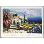 ポスター アート Amalfi Coast(ケリー ハラム) 額装品 アルミ製ハイグレードフレーム