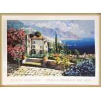 ポスター アート Amalfi Coast(ケリー ハラム) 額装品 ウッドベーシックフレーム